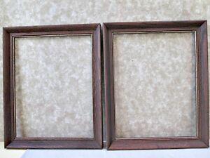 """2 Matching Contemporary OAK FRAMES, Fits 14"""" x 11"""" Artwork"""