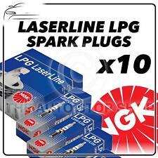 10x NGK SPARK PLUGS PART NUMBER LPG1 stock n. 1496 NUOVO Laserline Lpg sparkplugs