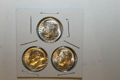 1953 PDS   Roosevelt  3  Dime  Unc Set   90/% Silver  1953-P  1953-D  1953-S