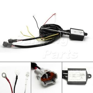 automatic on switch drl daytime running light relay wiring harness ebay