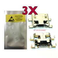 3 X Micro Usb Charging Sync Port Charger For Cricket Lg Stylo Lg-h634 Usa