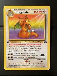 Dragonite pokemon card 19/62 fossil 1st edition no holo italiano