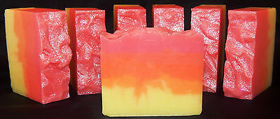Inventive Calypso Sunset Vegan Palm Free Handcrafted Artisan Shea Butter Soap Bath & Body Other Bath & Body Supplies