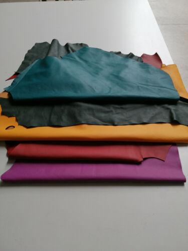 Residuos de cuero piezas de cuero Bastelleder cuero colorido