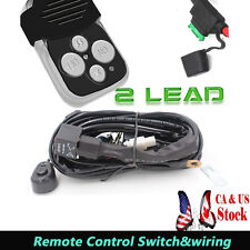Wiring Harness Led Light Bar ON-OFF-Strobe Remote Control Switch OFFROAD 2 LEAD