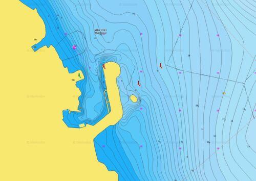 Navionics pequeño 515 Chipre Chart-Micro Sd