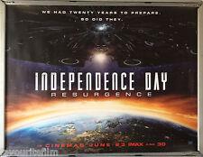 Cinema Poster: INDEPENDENCE DAY RESURGENCE 2016 (Advance Quad) Liam Hemsworth