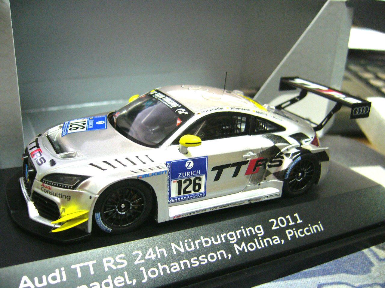 AUDI TT RS 24 H Nurburgring 2011  126 Johansson Molina hohenade Resin Spark 1 43