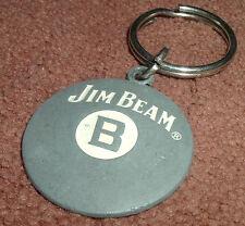 Jim Beam B Whiskey Promo Metal Keychain Keyring Pool Ball Billard Grey Silver