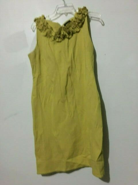 Just Taylor Mustard Gelb Ruffle Dress damen Größe 12 Stylish Modern RN
