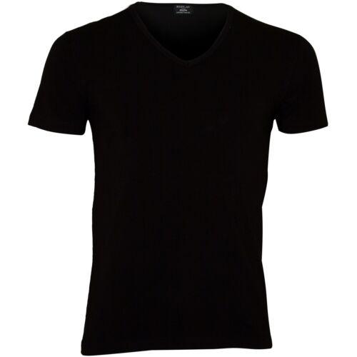 Replay Classic Stretch Cotton V-Neck Men/'s T-Shirt Black