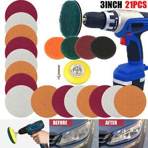 "21X 3"" Car Headlight Lens Restoration Repair Kit Polishing Cleaner Cleaning Tool"