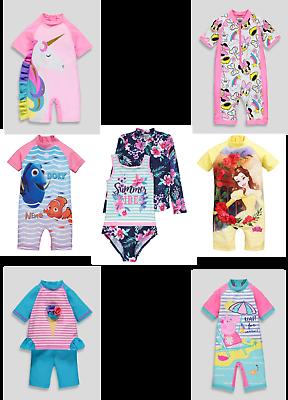 Instancabile Le Ragazze Sole Protezione Costumi Da Bagno Uv Sunsafe Surfsuits Tutte Le Taglie Nuovo Disney Nuova Con Etichetta-mostra Il Titolo Originale