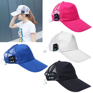 Wireless-Bluetooth-Baseball-Cap-Music-Sun-Hat-Hands-free-Phone-Call-Back