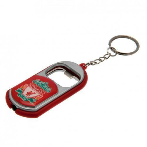 Keyring Torch /& Bottle Opener on a Chain SC Liverpool F.C