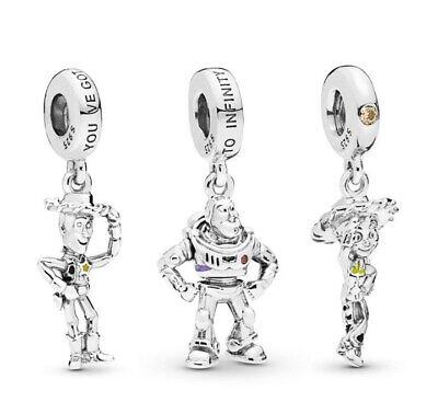 Woody Toy Story Jessie Pendant Charm Buzz Lightyear Alien Silver