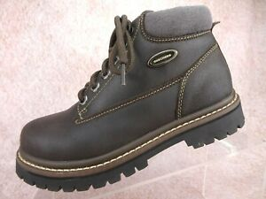 bfa195490a2 Image is loading Vtg-90s-Skechers-Brown-Leather-Chunky-Hiking-Jammers-