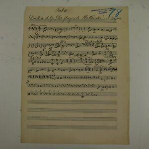 WAGNER-duet-fliegende-hollander-tuba-part-antique-music-manuscript