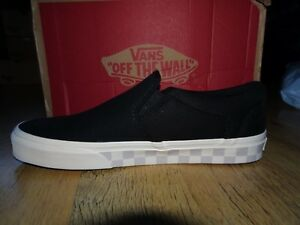 Vans Black ASHER Check Fox Trainers  Size 8.5 UK  BNIB  NEW  UNISEX ... d414e2868