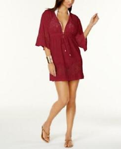 a97c0841fb6 Dotti Wine Gypsy Dance Laser Cut Kimono Swimsuit Cover up M Medium ...