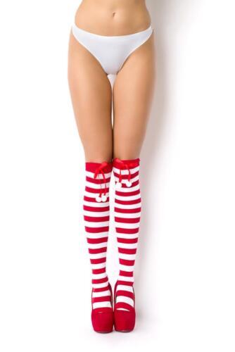 Streifen Overknees*Lange Socken*Kniestrümpfe*Überknie*Gestreift* XS S M-34 36 38