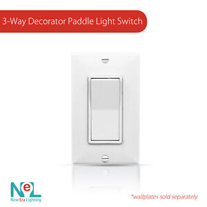 15A-120-277V-Paddle-Wall-Light-Switch-On-Off-Rocker-Switches-White