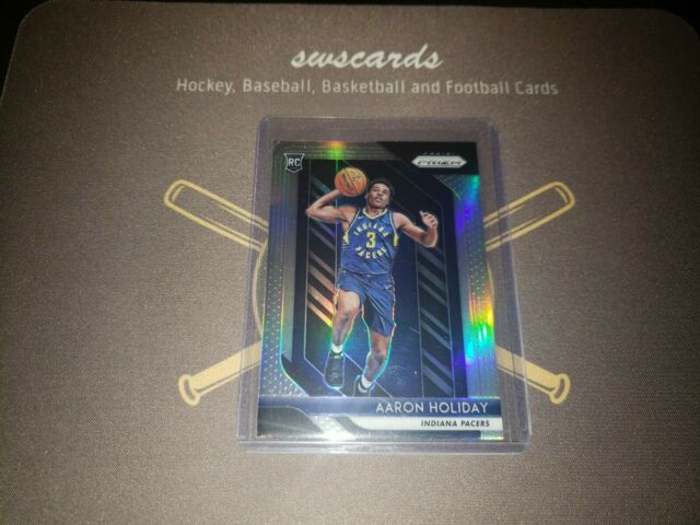 2018-19 Prizm Aaron Holiday Silver Prizm Rookie Card RC #114 Pacers
