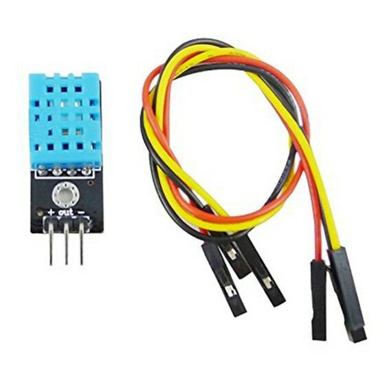 New Temperature and Relative Humidity Sensor Module DHT11 with cable O1O8 K2T3