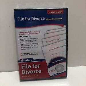 Details about Adams File for Divorce Personal Law Manual and Forms on CD