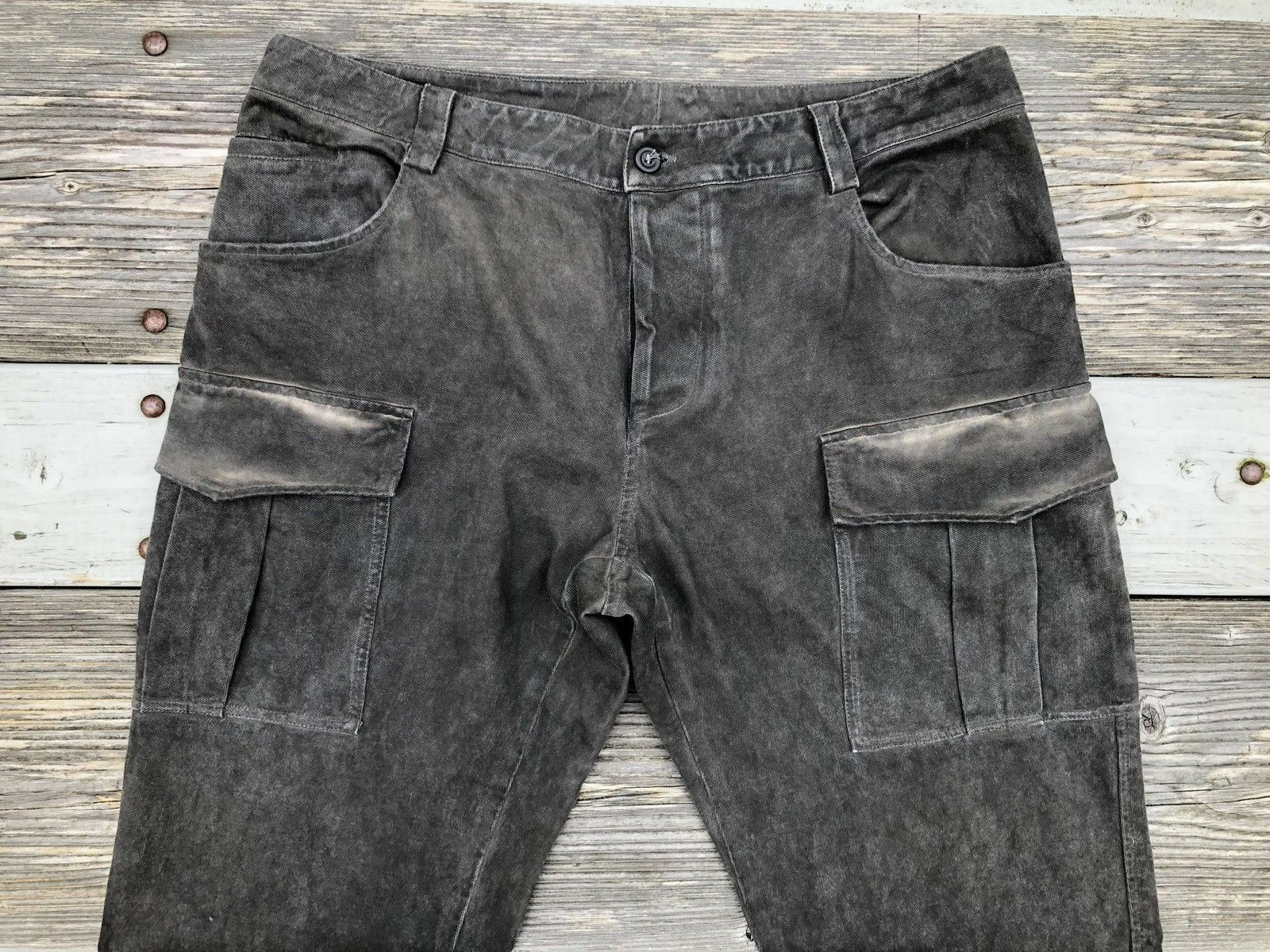 Mauro Taliani Jeans 35x36 Cargo Military Slim Tapered legs Made in  authent