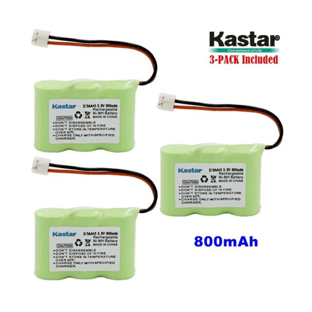 Kastar 3-PACK Ni-MH Rechargeable Battery Compatible with Vtech IA5870 IA5882 ...