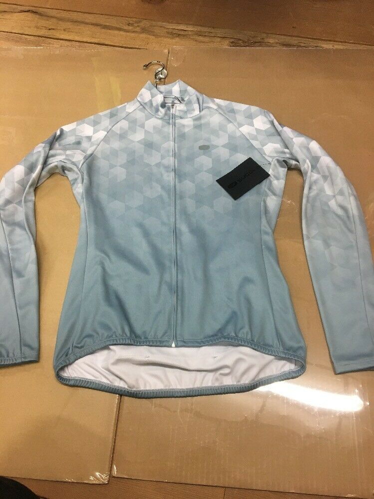 Sugoi Evolution Zap L S Sleeve Cycling Jersey Womens MEDIUM Road Mountain  k4
