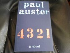 PAUL AUSTER SIGNED - 4 3 2 1 A NOVEL - First Hardcover Edition NEW