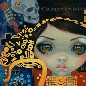 Faces-of-Faery-218-Jasmine-Becket-Griffith-art-CANVAS-PRINT-Klimt-skeleton-snake