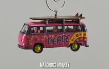 Peace Volkswagen Minibus Bus Christmas Ornament VW T2 Love not War Hippie Van