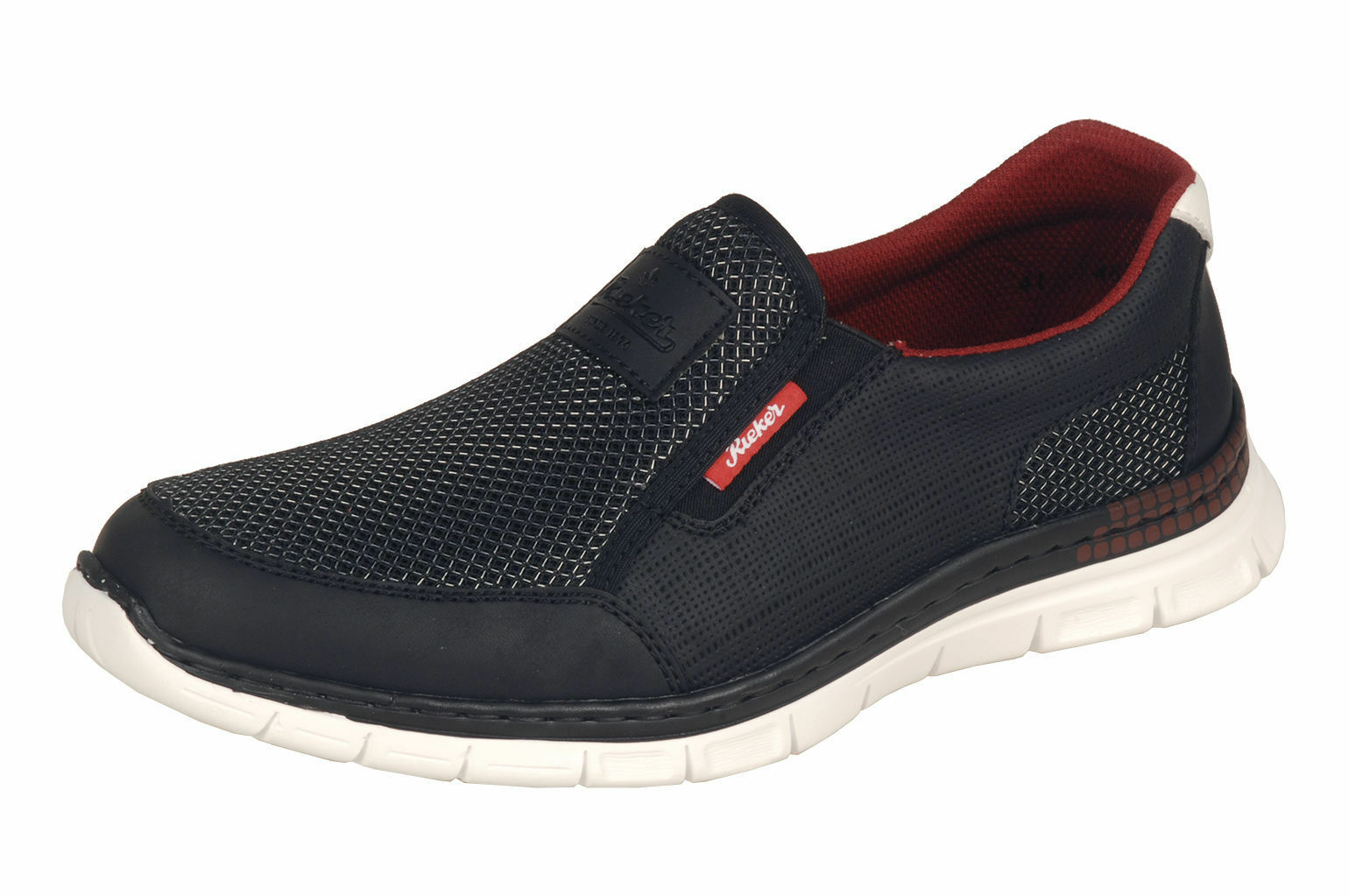 Homme Rieker Oilybuck B4870 Noir Taille Taille Taille Basse Slip on Sportif Chaussures  memory mousse | Grand Assortiment  62dce0