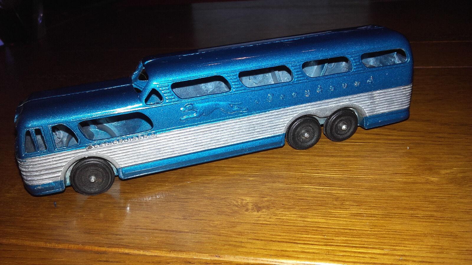 TOOTSIETOY (USA) Autocar Bus grisHOUND bleu scenicruiser 17 cm