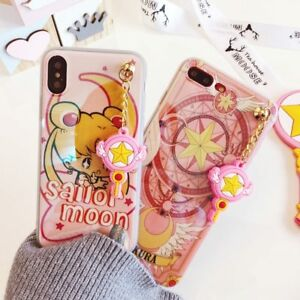 reputable site d7f9e 41fc5 Details about Cases for iPhone 8 7 plus 6 6S plus gel Sailor Moon Phone  case charm