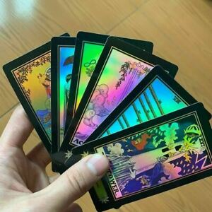 Holographic-Glowing-Shining-Tarrot-Tarot-Future-Telling-Trick-Deck-of-78-Cards
