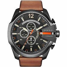 Diesel Men's DZ4343 Mega Chief Quartz Brown Watch with Analog Display