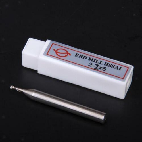 Schaftfräser Fräser 2 Zähne HSS Endmill End mill Milling Shank Ground Cutter