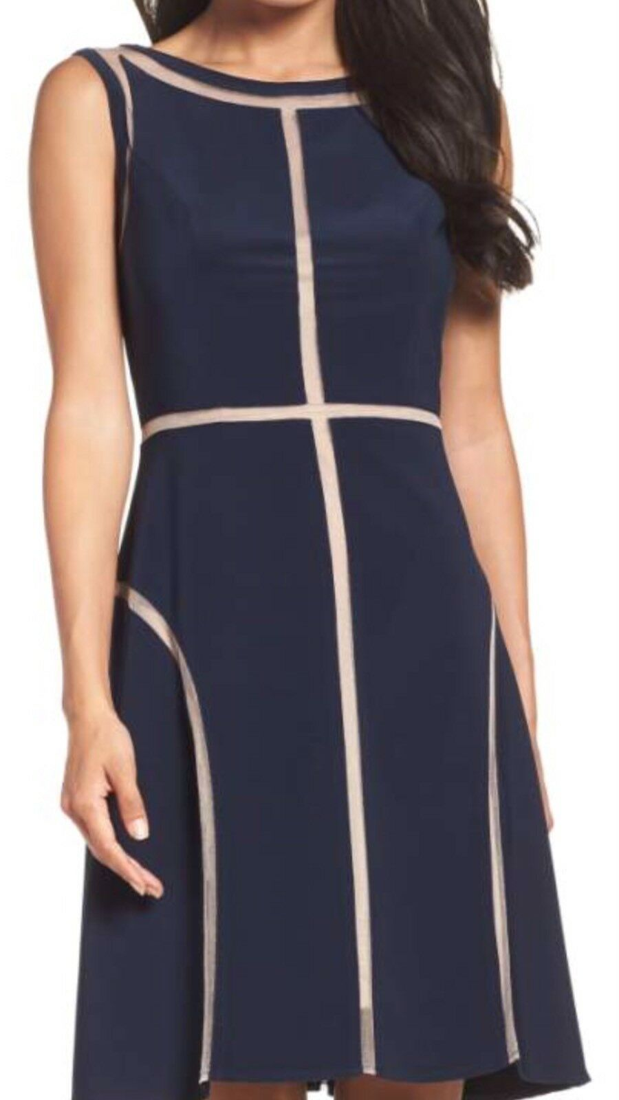 ADRIANNA PAPELL DRESS  NEW WITH TAG SIZE 8 RETAIL  NAVY NORDSTORM DRESS
