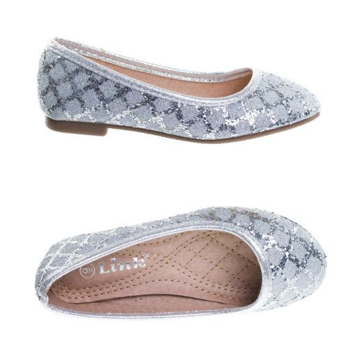 Karra Children Girl/'s Metallic Glitter Round Toe Ballerina Ballet Flats