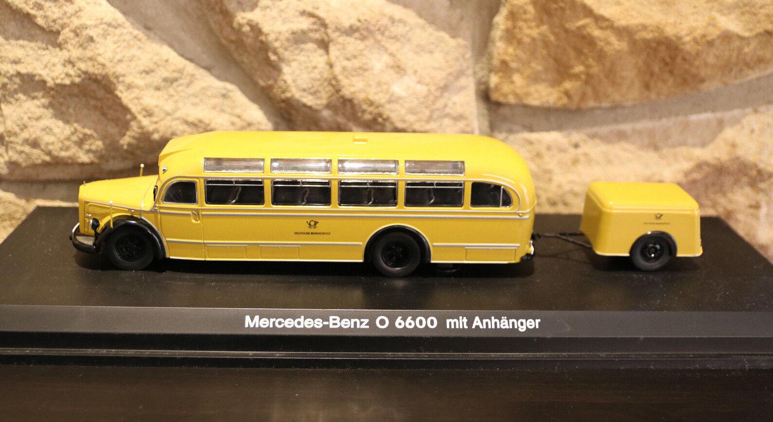 Schuco Deutsche Bundespost Mercedes-Benz O 6600 with trailer 1 43 OVP
