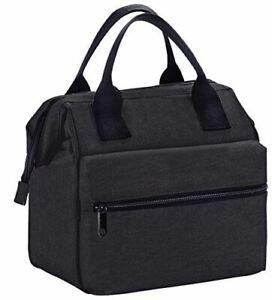 Insulated-Lunch-Bag-Box-Cooler-for-Men-amp-Women-Heavy-Duty-Oxford-Nylon-Black