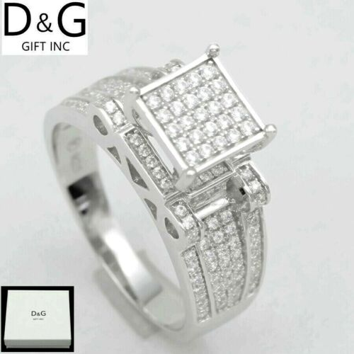 DG Women's 925 Sterling Silver.Wedding ICED-OUT CZ Eternity Rings 6 7 8 9 10 BOX