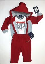 NIKE Baby Newborn 3-piece  Gift set  Hoodie Jackets Bodysuit Romper & Pants 3-6M