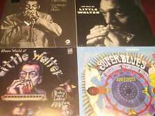 LITTLE WALTER BEST OF+CONFESSIN+SUPER BLUES+BLUES WORLD LIMITED Sealed 4 LPS