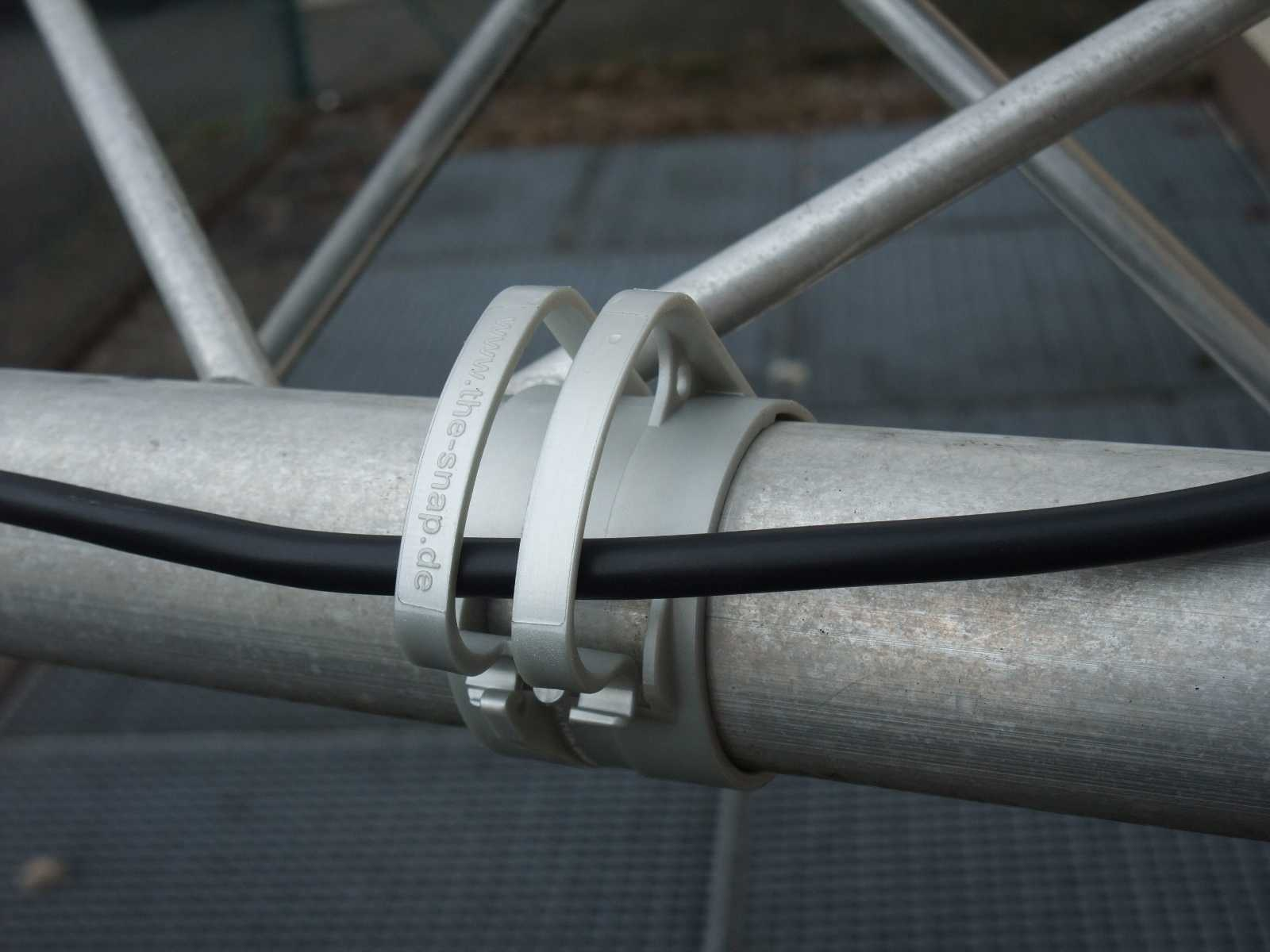 The Snap Light Zeva Cable Holder Clamp for Truss pipe, mounting bracket