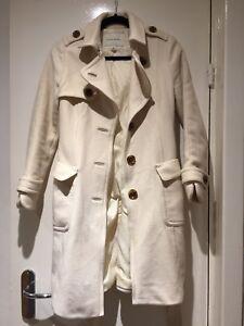 Uk Xs 8 White Banana Republic Cream Coat Wool 6 SHYAvq